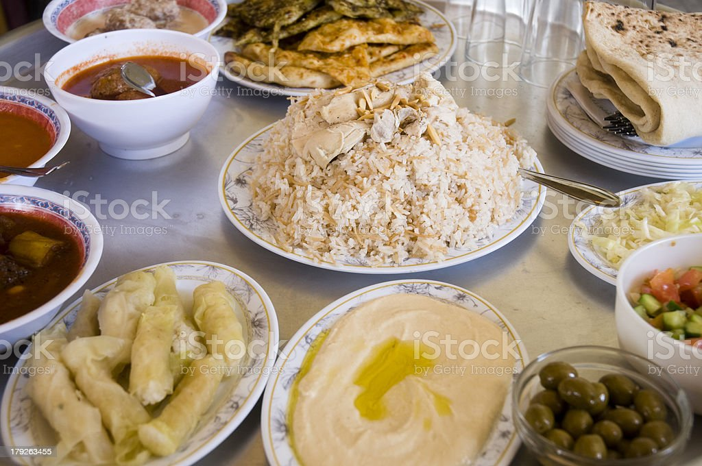 Druze food stock photo