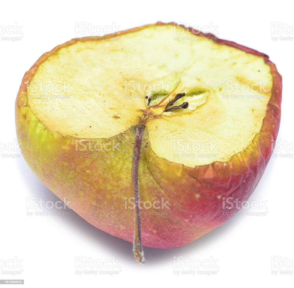 dry apple royalty-free stock photo