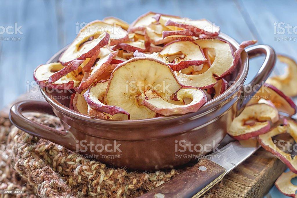 Dry apples stock photo