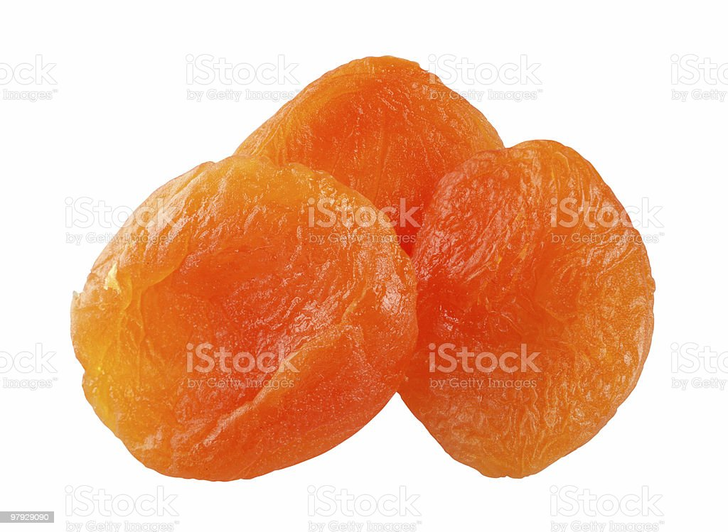 Dry apricot royalty-free stock photo