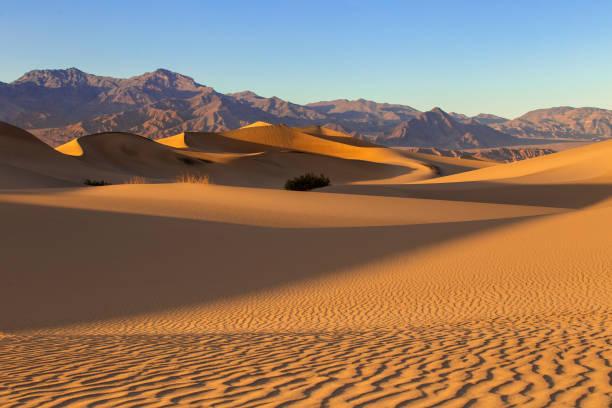 Dry Arid Desert Landscape Sand Dunes in Death Valley California stock photo