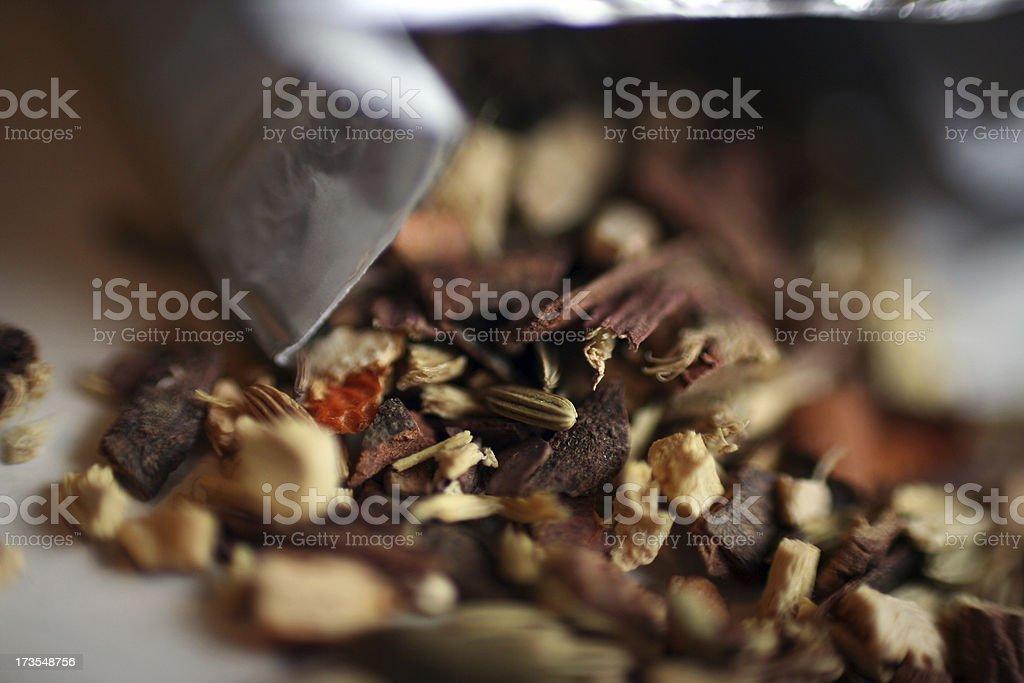 Dry Ayurvedic Herbs royalty-free stock photo