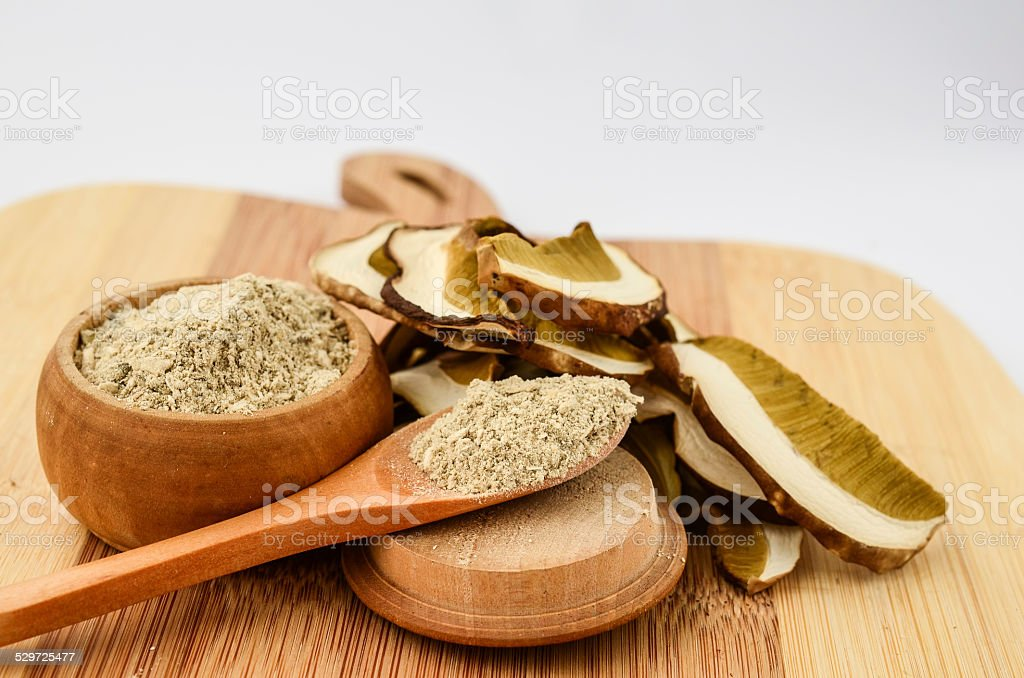 Dry Boletus in a kitchen stock photo