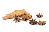 istock Dry brown star anise fruit isolated on white 1133039492