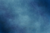 istock Dry brush painted paper , canvas , wall .Textured background in blue tones. Abstract modern painting . 1202921559
