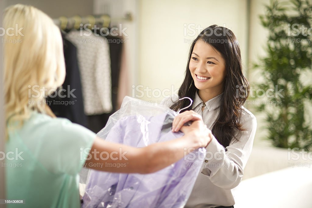 dry cleaning stock photo