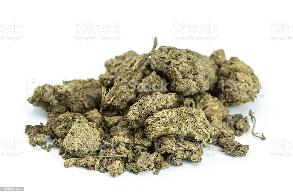 Dry cow manure stock photo