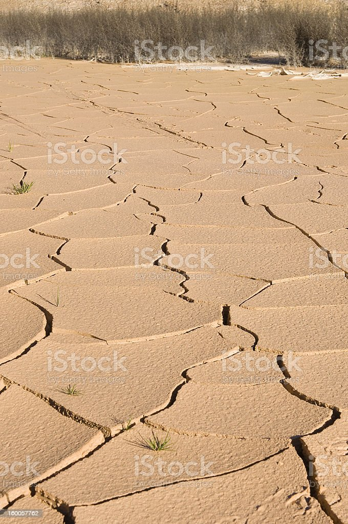 Dry cracked claypan during a drought. royalty-free stock photo