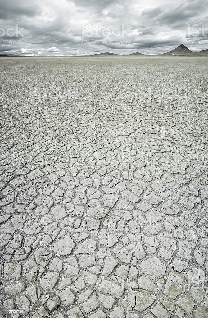 Dry cracked earth royalty-free stock photo