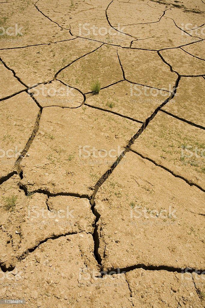 Dry Cracked Floor royalty-free stock photo