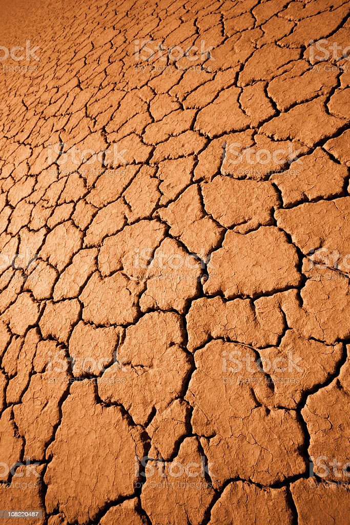 Dry Cracked Ground in the Desert royalty-free stock photo