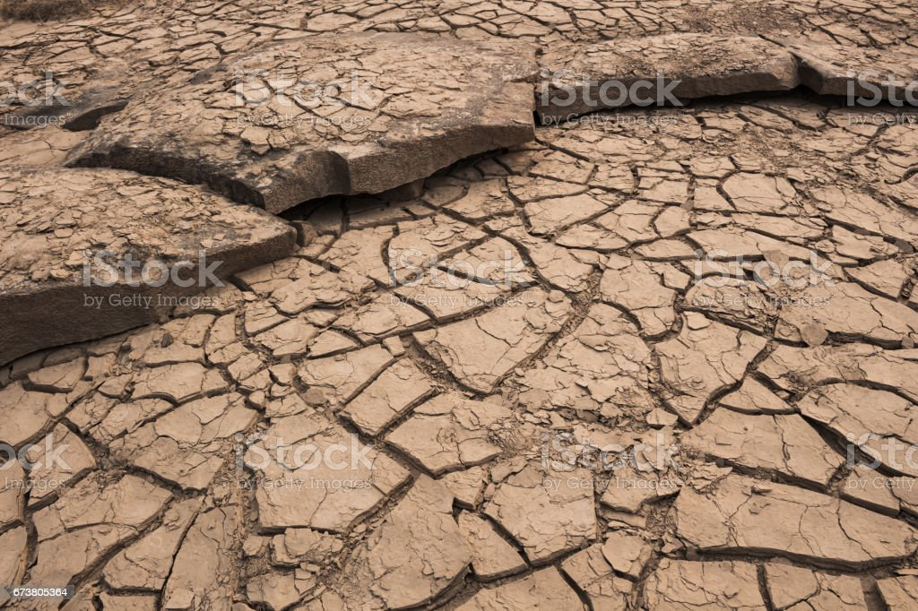 Dry cracked soil in drought land. photo libre de droits