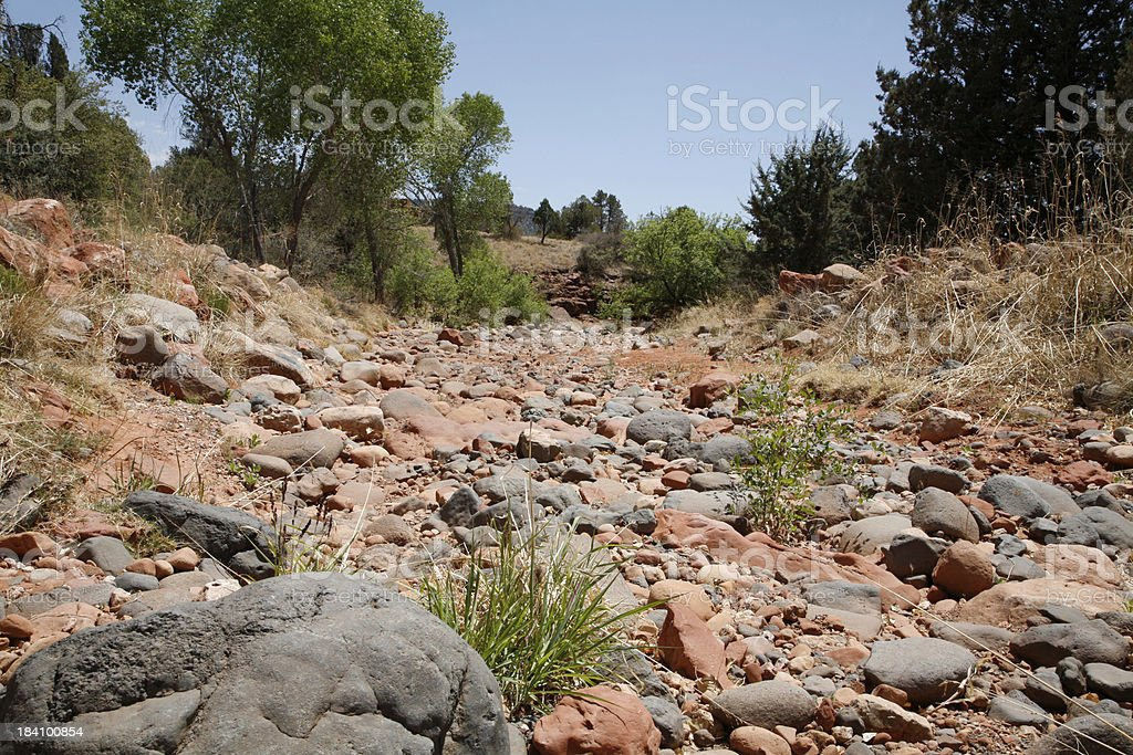 Dry Creek Bed. Sedona Arizona stock photo
