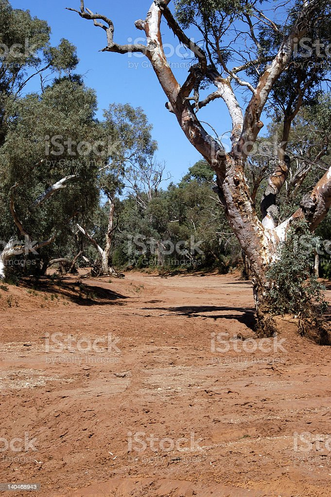 Dry Creek, Living Outback, New South Wales stock photo