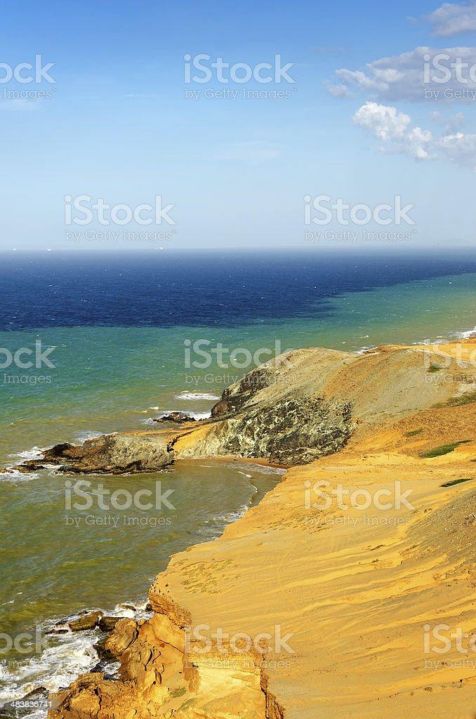 Dry Desert Coastline stock photo