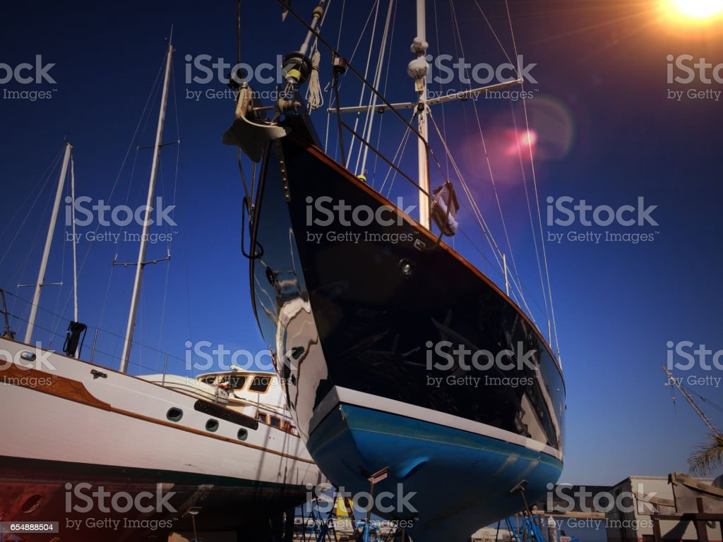 Dry Dock stock photo