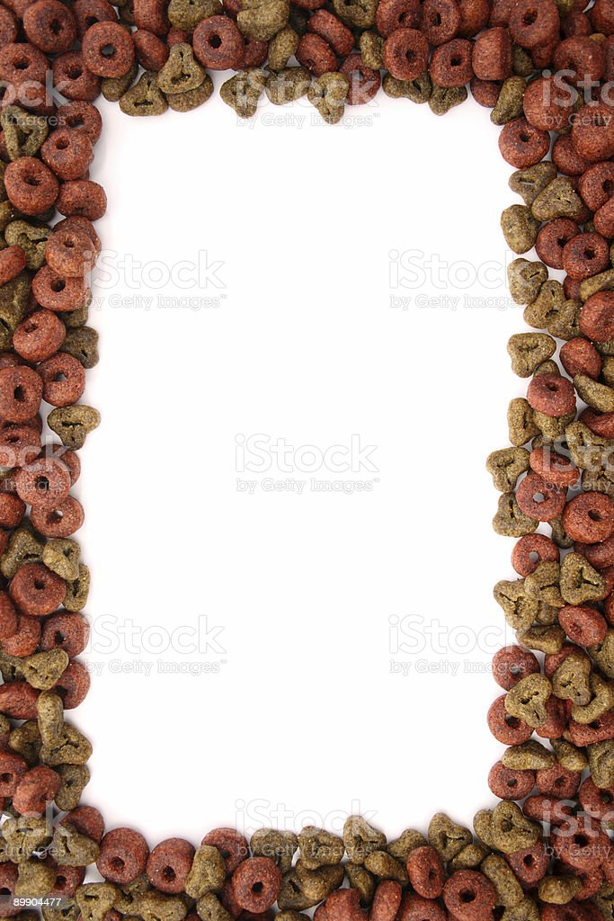 Dry dog food frame royalty-free stock photo