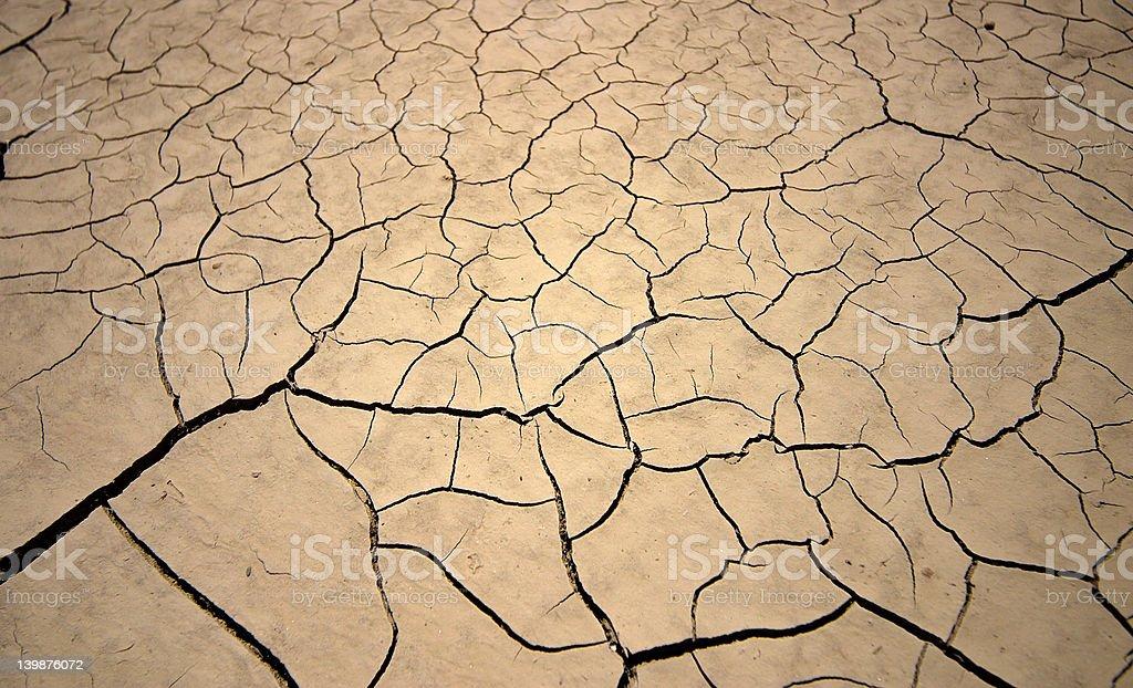 Dry earth stock photo