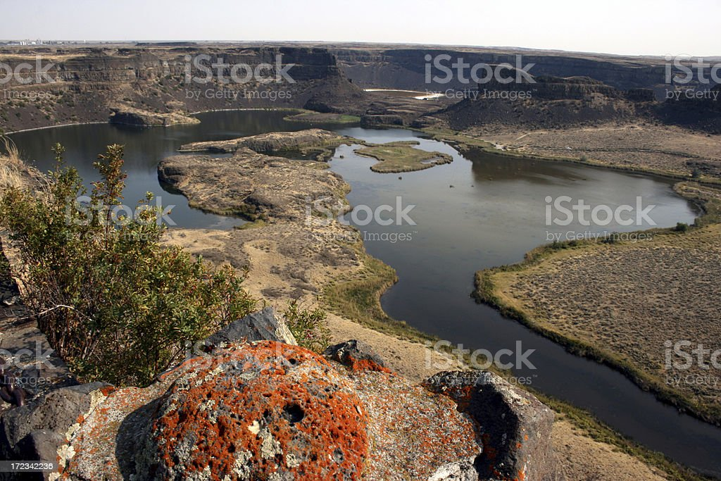 Dry Falls Central Washington stock photo