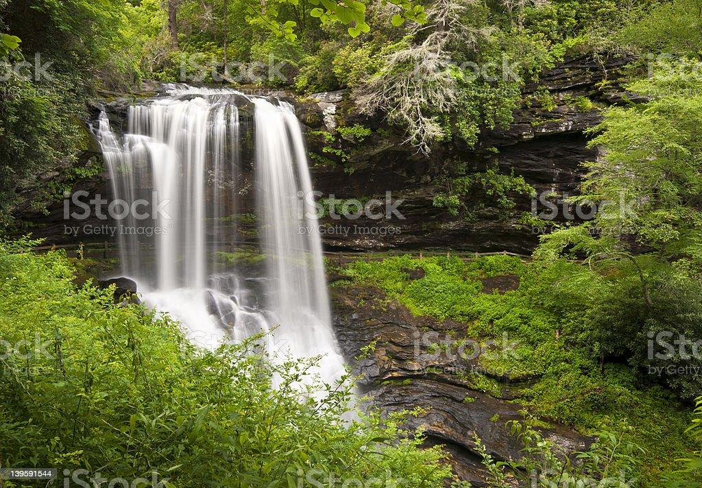 Dry Falls Highlands NC Waterfalls Nature Landscape Western North Carolina stock photo