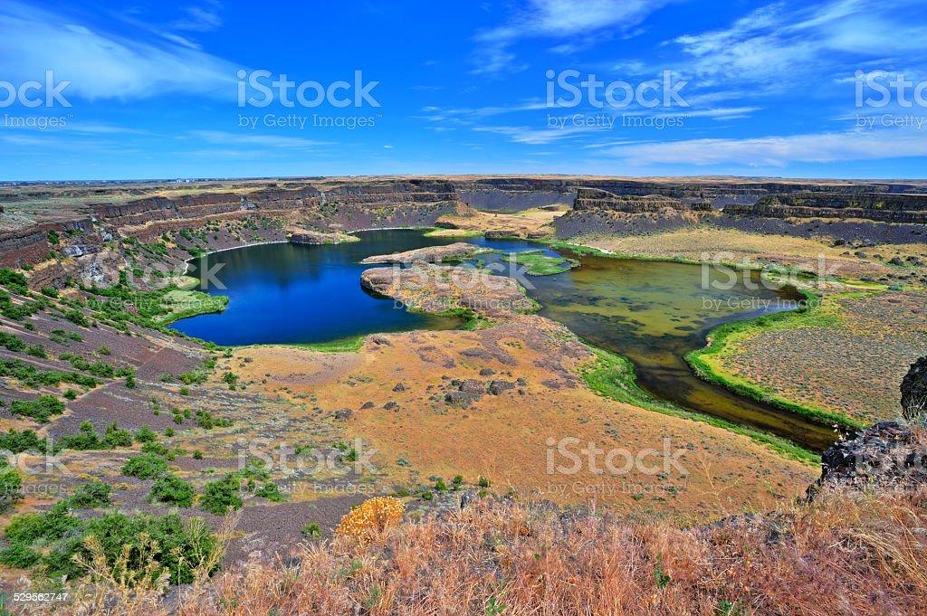 Dry Falls in WA (HDR) stock photo