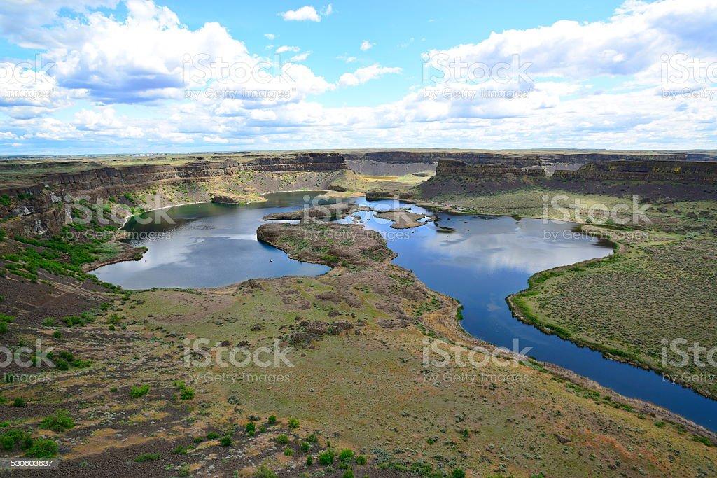 Dry Falls in WA stock photo