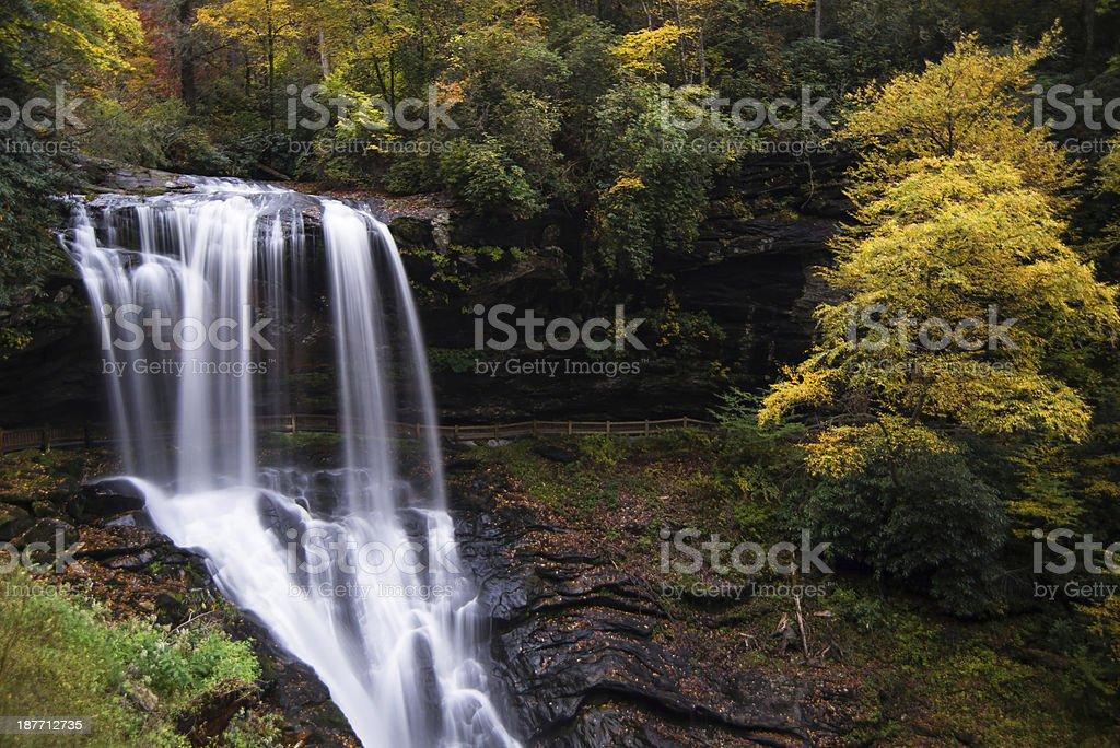 Dry Falls in Western North Carolina stock photo