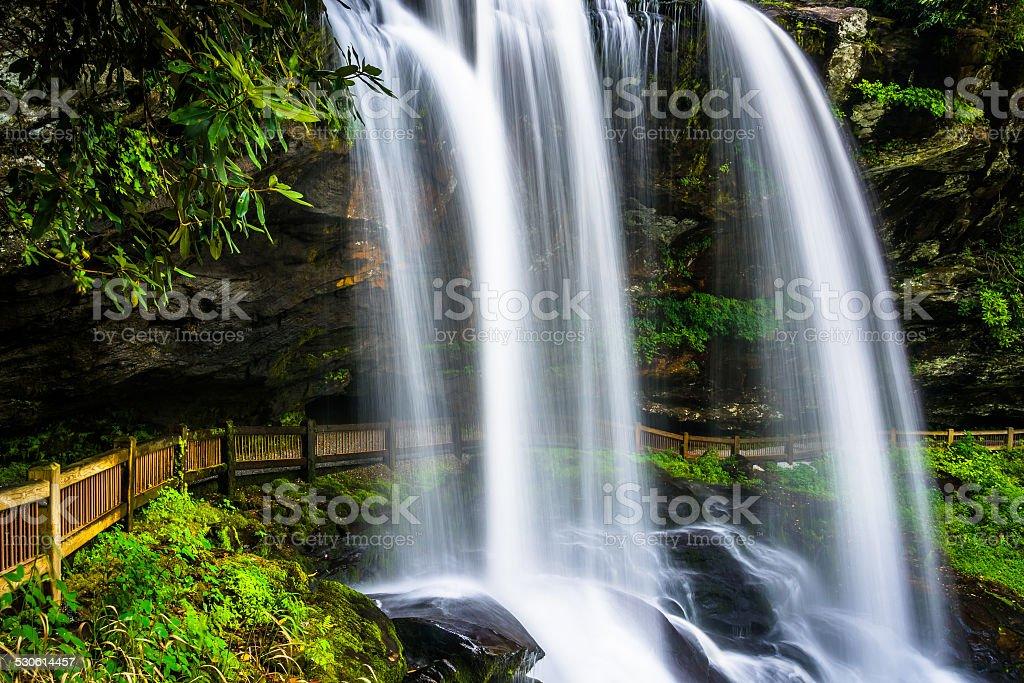 Dry Falls, on the Cullasaja River in Nantahala National Forest, stock photo