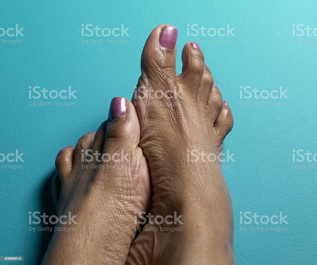 dry feet stock photo