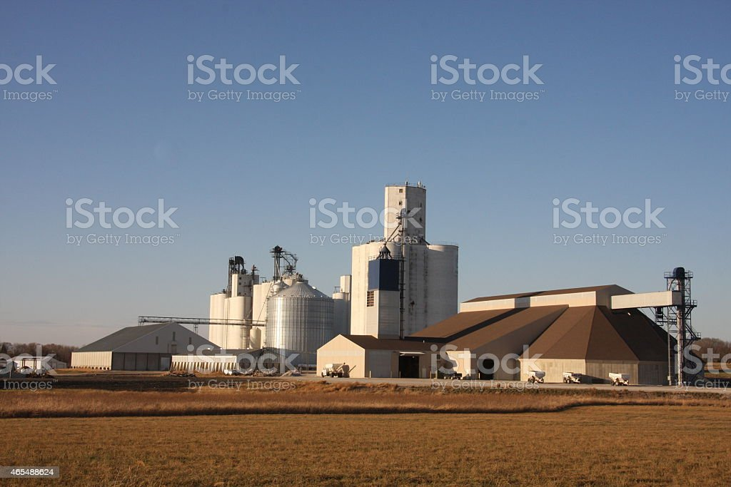 Dry Fertilizer Plant in Northwest Iowa stock photo