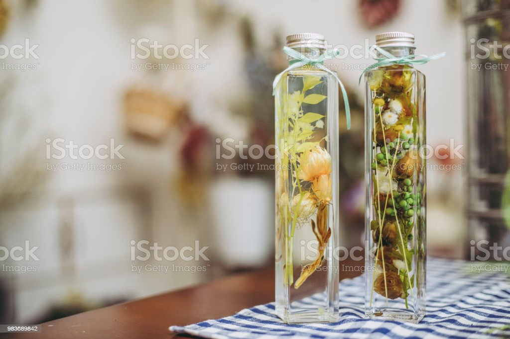 Dry Flower and Herbarium stock photo