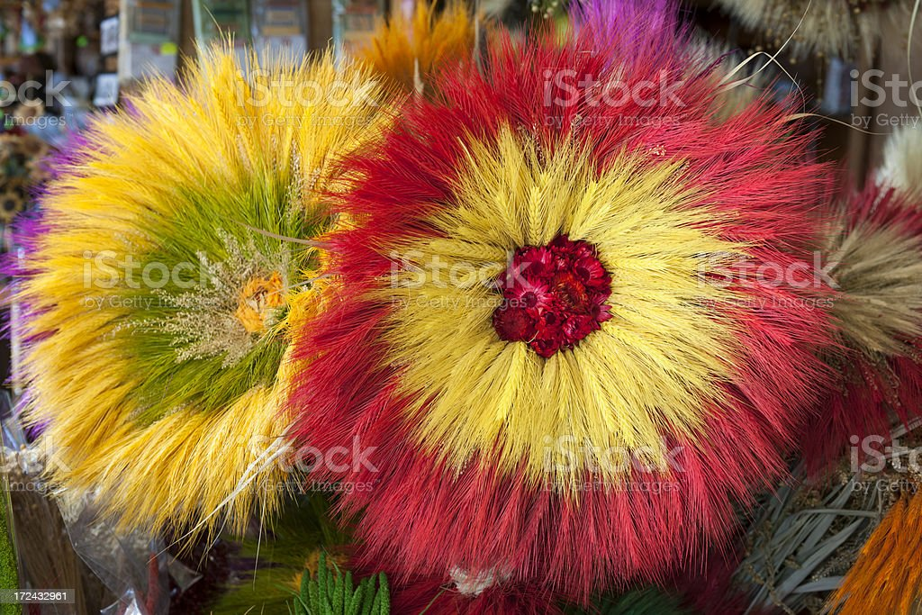 Dry Flowers Made of Wheat Ears in Poland royalty-free stock photo