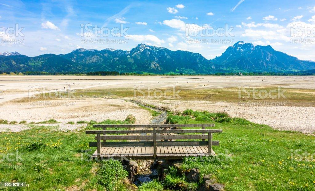 Lago seco forggensee - Foto de stock de Alemanha royalty-free