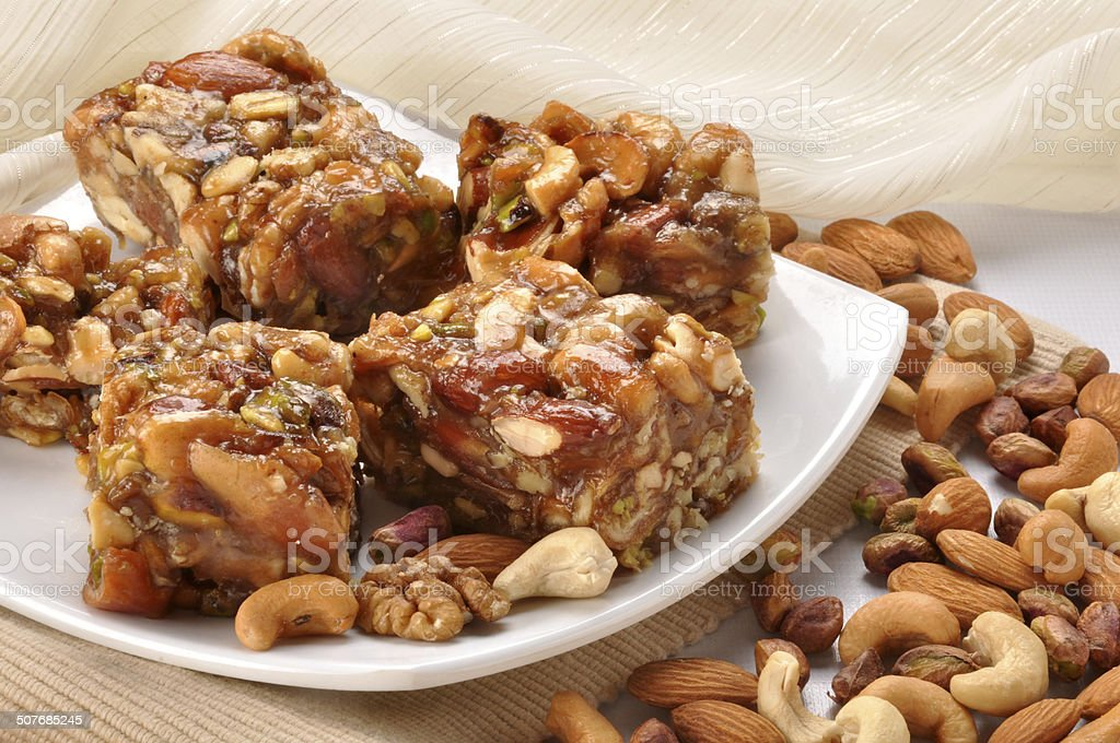 Dry Fruit Halva-17 stock photo