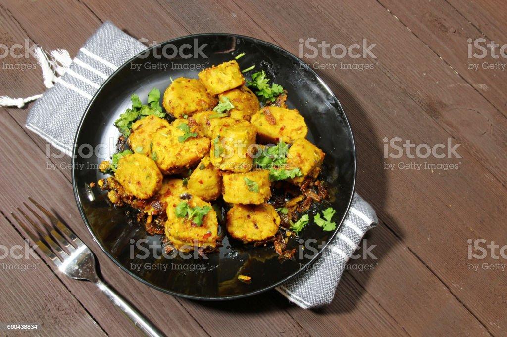 Dry Gatte Ki Sabji Or Dhoka Stock Photo & More Pictures of