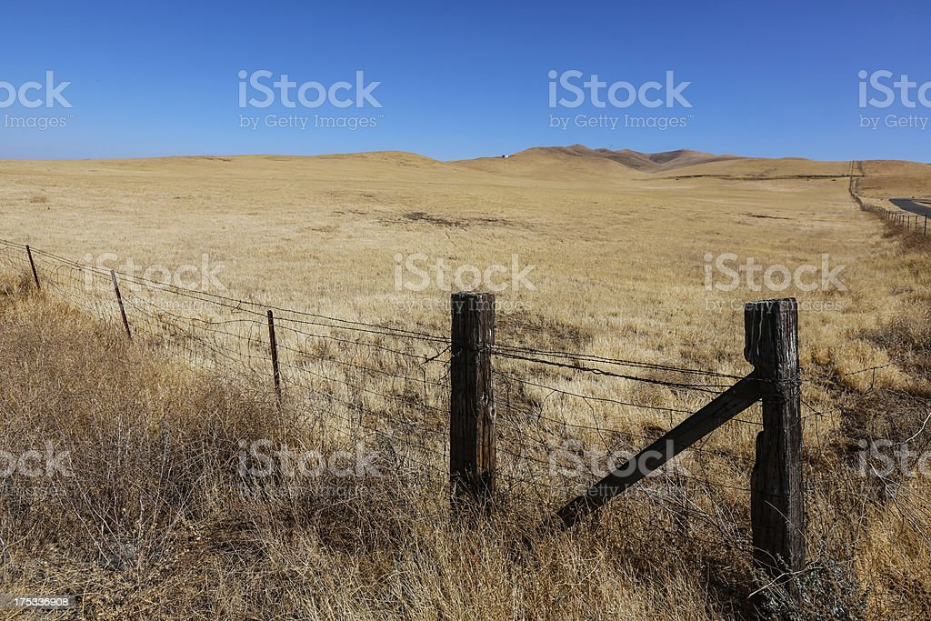 Dry Grassland in Central Valley royalty-free stock photo