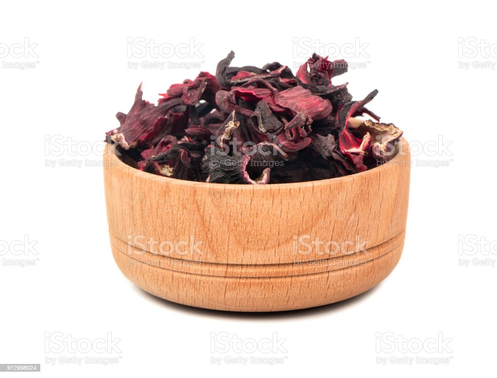 Dry Hibiscus Tea In Bowl Stock Photo More Pictures Of Antioxidant