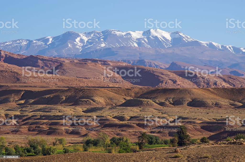 Dry  hills of Morocco stock photo