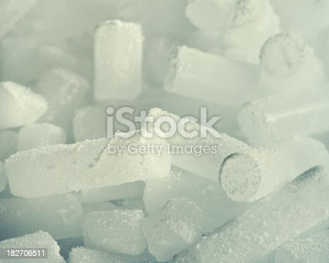 Dry ice used by wine makers.