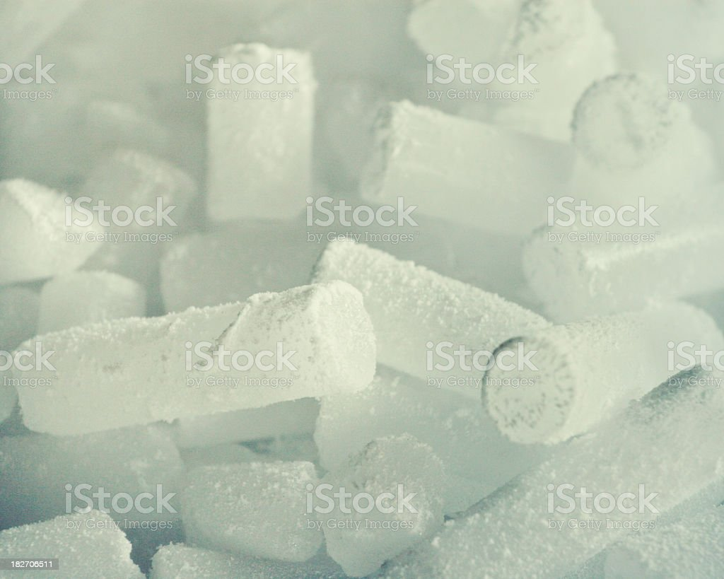 Dry ice stock photo