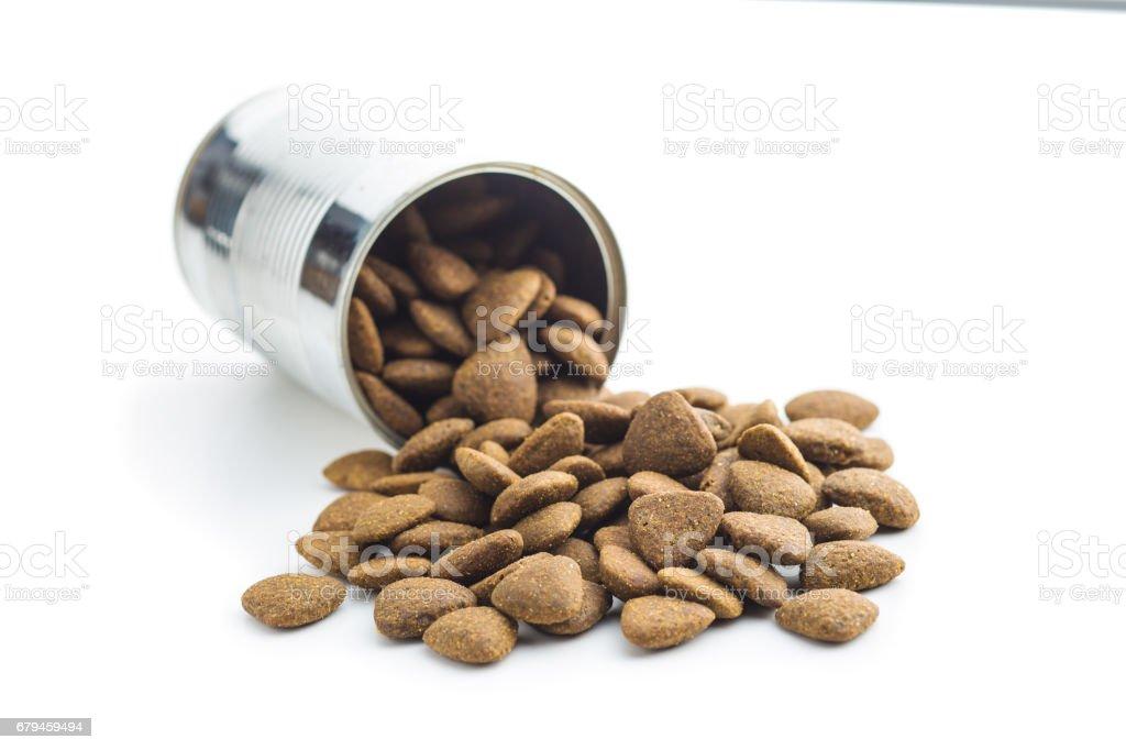 Dry kibble dog food royalty-free stock photo