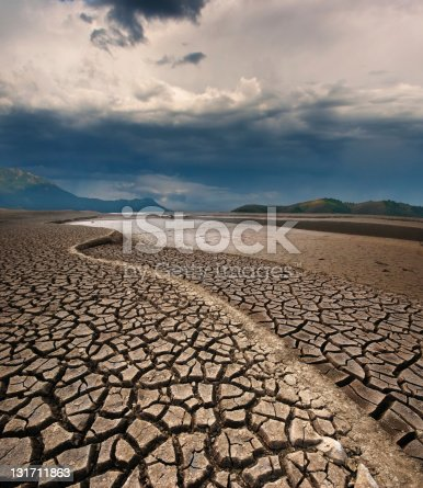 istock Dry lake bed 131711863