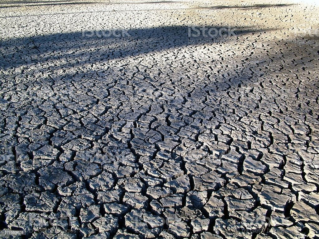 Dry Lake Bed royalty-free stock photo