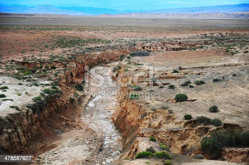 Dried river in Morocco.