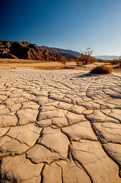 Dry Lakebed, Death Valley, California Dry lake, Death Valley National Park. lake bed stock pictures, royalty-free photos & images