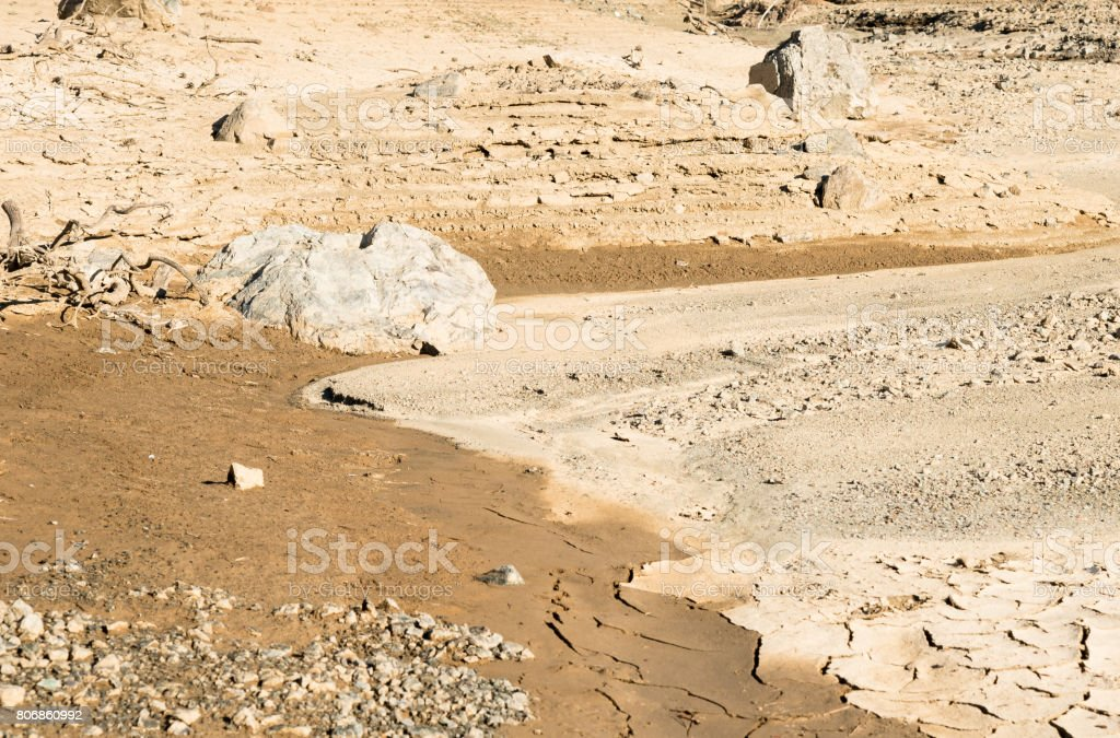 Dry land background stock photo