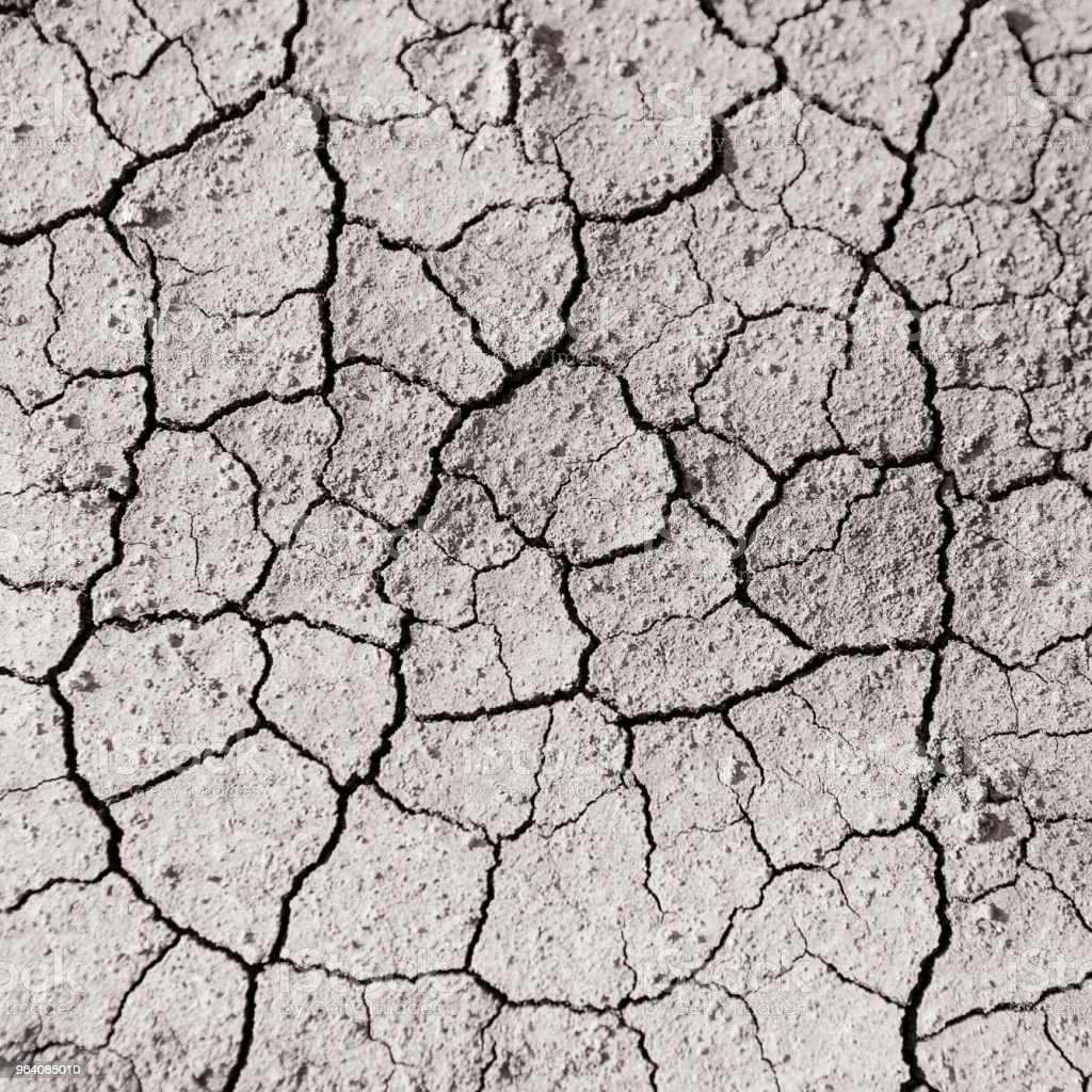 dry land with cracks from drying, soil without water, concept water - Royalty-free Abstract Stock Photo
