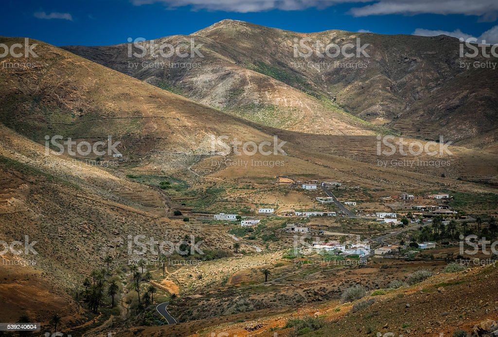 Dry landscape of Fuerteventura royalty-free stock photo