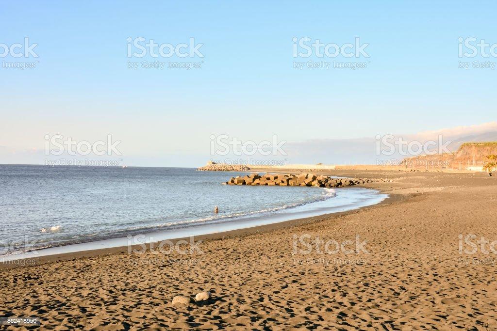 Dry Lava Coast Beach stock photo