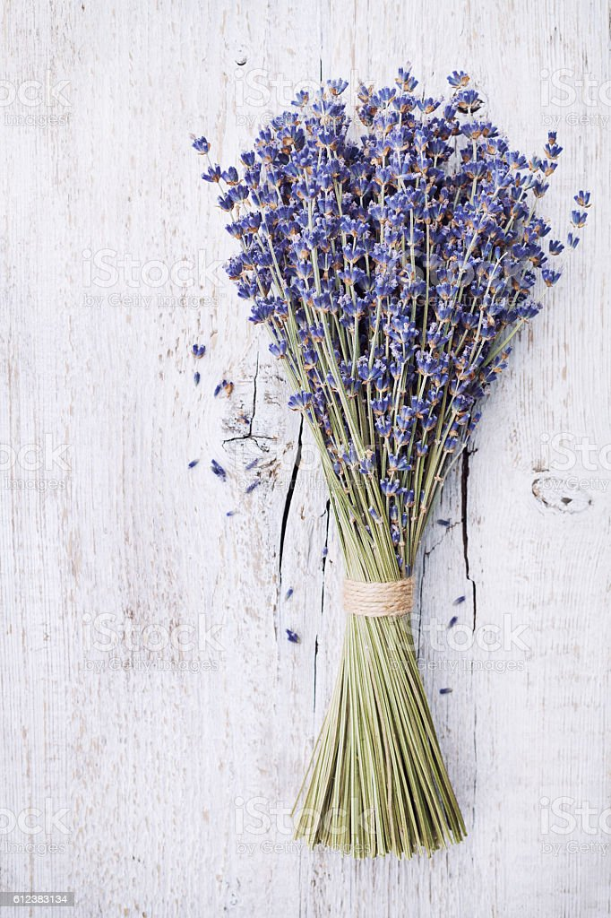 Dry Lavender Bunch On White Vintage Table Rustic Style Stock Photo Download Image Now Istock